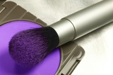 Make Up Brush with Bright Purple Blush Powder Photographic Print