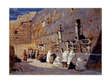 The Wailing Wall, Jerusalem, Israel Giclee Print by Carl Werner