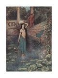 She Rushed Out of the Palace and Came to the Upper World Giclee Print by Warwick Goble