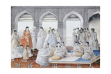 The Royal Harem Playing Pachisi in a Lucknow Palace Giclee Print
