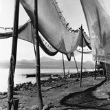 Drying Fishing Nets in Janitzio Photographic Print