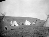 Atsina Camp Scene Photographic Print by Edward S. Curtis