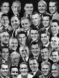 1950s-1960s Montage of 29 Men's Heads All are Smiling Photographic Print