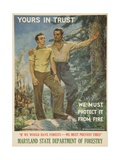 Yours in Trust Poster Giclee Print by James Montgomery Flagg