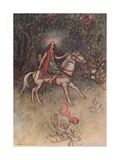 A Bright Light, Like That of the Moon, Was Seen Shining on His Forehead Giclee Print by Warwick Goble
