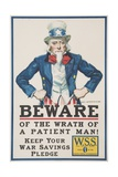 Beware of the Wrath of a Patient Man! Poster Giclee Print by James Montgomery Flagg