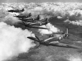 Hawker Hurricanes in Flight Photographic Print