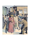 Therèse Humbert (1856-1918) Fraudster Arriving in Paris (Jan 19) Giclee Print