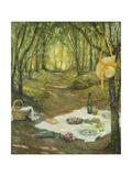 Le Gouter Sous Bois, Gerberoy Giclee Print by Henri Le Sidaner