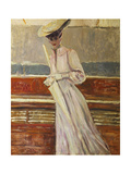 Madame Helleu on the Yacht Etoile Giclee Print by Paul Cesar Helleu