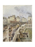 The Pont Neuf on a Rainy Afternoon Giclee Print by Camille Pissarro