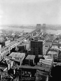 New York and Brooklyn Bridge Photographic Print by George P. Hall