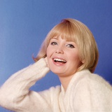 1970s Portrait of Woman with Blond Hair and White Sweater Photographic Print