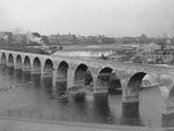 St. Anthony's Falls and Stone Arch Bridge Photographic Print
