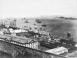 Ships in Quebec Bay Photographic Print