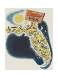 Florida the Sunshine State Giclee Print by Leo Rackow