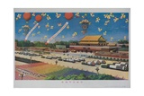 Military Rocket Parade in Tienanmen Square, 1987 Chinese Propaganda Giclee Print