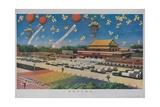 Military Rocket Parade in Tienanmen Square, 1987 Chinese Propaganda Giclee Print