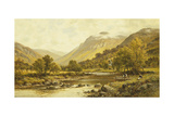 Borrowdale, Cumberland Giclee Print by Alfred Augustus Glendening