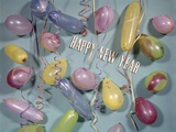 1970s Retro Part Decorations Balloons Streamers New Year Photographic Print