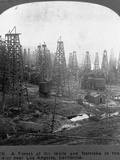 Oil Rigs Near Los Angeles, California Photographic Print