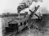 Steam Shovel Digging Ditch for Western Pacific Railroad Photographic Print