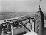 Eastern View of Singer Tower and Hudson River Photographic Print
