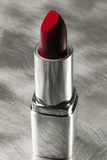 Red Lipstick in Silver Tube Photographic Print