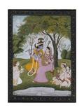 Krishna and Radha Making Music Reproduction procédé giclée