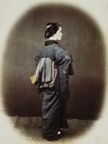 Portrait of a Japanese Woman Photographic Print by Felice Beato