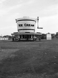 1930s Roadside Refreshment Stand Shaped Like Ice Cream Maker Photographic Print