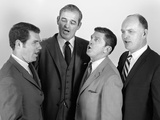 1960s Quartet of Four Businessmen Salesmen Singing Harmony Together Photographic Print
