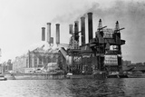 New York Edision Company Power Plant Photographic Print