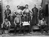 1890s 9 Carpet Mill Workers Photographic Print