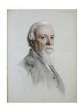 Portrait of Robert Browning Giclee Print by Anthony Frederick Augustus Sandys
