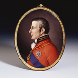 Sevres Oval Portrait Plaque of the Duke of Wellington Photographic Print by Etienne-charles Leguay