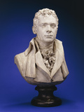 A Painted Plaster Bust of Robert Fulton Photographic Print by Jean-Antoine Houdon