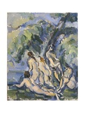 Bathing Study for Les Grandes Baigneuses Giclee Print by Paul Cézanne