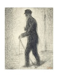 Walking Giclee Print by Georges Seurat