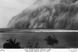 Sand Storm or Hunoub in North Khartoum Photographic Print