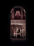 1950s Family Seen Through Tall Arch at Liberty Bell in Independence Hall Photographic Print