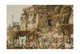 Bruhma Ghat, Benares Giclee Print by James Prinsep