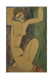 Caryatid Giclee Print by Amedeo Modigliani