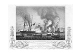 Print of Ships at Battle in Anson's Bay Giclee Print