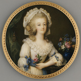 A Fine and Important Miniature of Queen Marie-Antoinette Photographic Print by Ignace Jean Victor Campana
