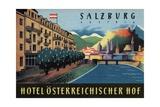 Hotel Osterreichischer Salzburg Luggage Label Giclee Print