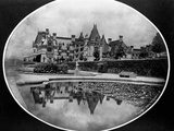Reflection in Garden Pond of Biltmore House Photographic Print