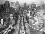 Manhattan from Brooklyn Bridge Tower Photographic Print