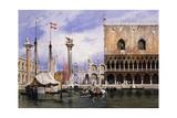 The Piazzetta Di San Marco, Venice Giclee Print by Carl Friedrich Heinrich Werner