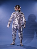 1960's Man in Silver Astronaut Space Suit and Helmet Photographic Print